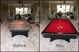 expert pool table refelting in sparks content